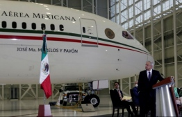 """Mexico held a symbolic raffle Tuesday for a luxury presidential jet that President Andres Manuel Lopez Obrador calls an """"insult"""" to the people and which has yet to find a buyer. 