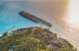 Aerial view of Reethi Faru Resort. PHOTO/REETHI FARU