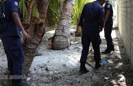Police officers pictured during a drug operation. PHOTO/POLICE