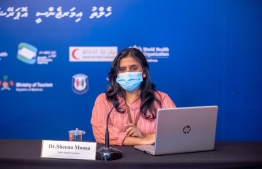 Public Health Specialist Dr Sheena Moosa speaking at a press conference held by the Health Emergency Operations Centre (HEOC). PHOTO: HEOC