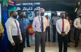 During the ceremony to inaugurate Ooredoo Maldives' Digital Kiosk for tourists at Velana International Airport. PHOTO: OOREDOO