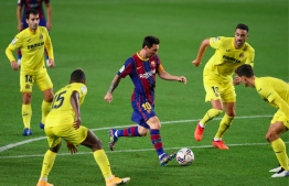 Lionel Messi scored in his first game since trying to leave Barcelona, as Barce beat Villarreal 4-0 on September 27, 2020. PHOTO/AFP