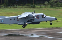 India provides Dornier aircraft, contracted in former President Abdulla Yameen Abdul Gayoom's administration, to Maldives. PHOTO: MIHAARU FILES