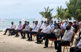 A photograph taken during the contract signing ceremony between IAS and AIA. PHOTO: MALDIVIAN