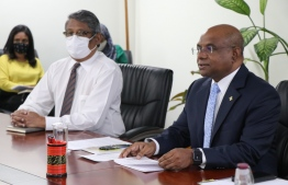 Minister of Foreign Affairs Abdulla Shahid participating in the meeting with envoys from ASEAN. PHOTO: MINISTRY OF FOREIGN AFFAIRS