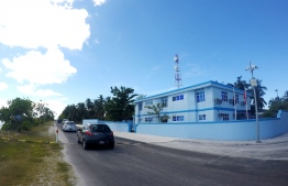 The police station in Hithadhoo, Addu Atoll.