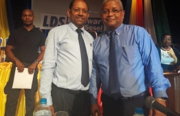 Newly elected Deputy President of Seychelles Ahmed Afeef (L) is the son of Abdulla Afeef, who created the Suvadive Republic. PHOTO: MIHAARU FILES