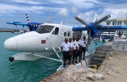 The Maldivian pilots and crew in India to assist in Indian's commencing of seaplane services. PHOTO: INDIAN HIGH COMMISSION