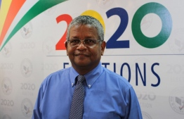 Seychelles newly elected President Wavel Ramkalawan, poses for a photo after the just concluded presidential and legislative elections in Victoria, Seychelles on October 25,2020. - The opposition candidate Wavel Ramkalawan won the first round of the presidential election in Seychelles, a historic victory in a country where all heads of state had been from the former single party for more than 40 years, announced on Sunday the electoral commission. (Photo by Rassin VANNIER / AFP)
