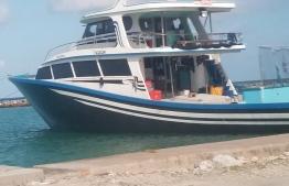 he vessel 'Faskuri' was hijacked by armed youth. PHOTO: MIHAARU FILES