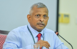 Maldives Monetary Authority (MMA)'s Governor Ali Hashim speaking at the parliament. PHOTO: AHMED AWSHAN ILYAS/ MIHAARU