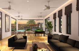 A rendering depicting the interior design of the residence's Club House. PHOTO: AQUA VITA RESIDENCES