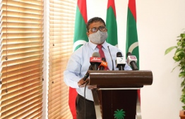 Minister of Environment Hussain Rasheed Hassan called for ease of access to climate funding for vulnerable small island states such as Maldives, in an interview to Climate Home News on January 13, 2021. PHOTO/MIHAARU