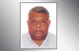 Director of Universal Enterprises and Maldives' first anesthesiologist Dr Ibrahim Umar Manik. PHOTO: MIHAARU