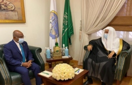 Minister Shahid meets with Secretary General of Muslim World League. PHOTO: FOREIGN MINISTRY