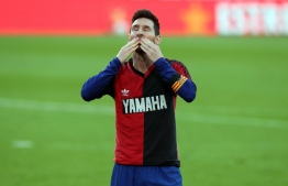 Lionel Messi, who has inherited Maradona's legendary Argentina number 10 shirt, bowed his head.