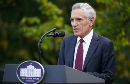(FILES) In this file photo taken on September 28, 2020 White House coronavirus adviser Dr. Scott Atlas speaks on Covid-19 testing in the Rose Garden of the White House in Washington, DC. - One of President Donald Trump's favored coronavirus advisors who sparked controversy over his comments against mask-wearing and other issues has resigned, US media reported November 30, 2020. Fox News obtained the resignation letter dated December 1 for Scott Atlas, who lacked relevant experience or qualifications in public health or infectious disease. (Photo by MANDEL NGAN / AFP)