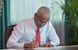 President Ibrahim Mohamed Solih. PHOTO: PRESIDENT'S OFFICE