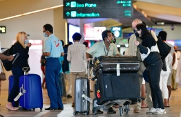 Tourists at VIA: Departure Tax will go into affect on January 1, 2022 -- Photo: Nishan Ali/ Mihaaru