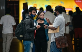 (FILE) Tourists in Velana International Airport, on December 20, 2020: 204,530 tourists have arrived from India to Maldives from January to the end of September 2021 -- Photo: Nishan Ali / Mihaaru