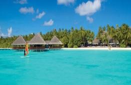 View of arrival area at Biyadhoo Island Resort, Maldives. PHOTO: BIYADHOO RESORT