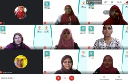 Women in Tech and Dhiraagu kick off 'Girls to Code - Thinadhoo' on January 10, 2021. PHOTO/GIRLS TO CODE