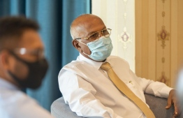 Health Minister Ahmed Naseem revealed to Mihaaru News that the doling out of COVID19 vaccinations are hoped to commence before the end of January. PHOTO: HEALTH MINISTRY