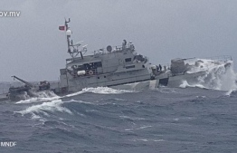 A coast guard vessel in the rough sea, PHOTO: COAST GUARD