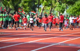From the events of Male' Ekuveni track's inauguration. PHOTO: MIHAARU