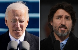 U.S. President Joe Biden, left, and Prime Minister Justin Trudeau are seen in this combination image. PHOTO: AP / THE CANADIAN PRESS