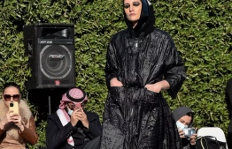 Fashion shows are rare in the conservative Muslim kingdom, where many previous such events were restricted to women or avoided female models altogether FAYEZ NURELDINE AFP