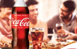 Coca-Cola is offering a free iconic Coke branded bell glass with every purchase of a 2-litre PET Coke bottle, with its 'Coke and Meals' campaign. PHOTO/COCA-COLA MALDIVES