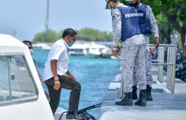 Former President Abdulla Yamin: He has been transferred home as COVID-19 is spreading in K. Maafushi Jail -- Photo: Nishan Ali/ Mihaaru