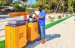 Community waste management project in Kinolhas, completed with the support of Bank of Maldives (BML) community fund. PHOTO: MIHAARU