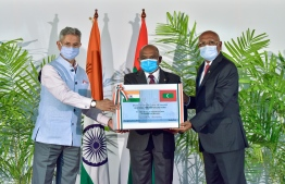 India donates additional 100,000 doses of vaccine to Maldives. PHOTO: NISHAN ALI/MIHAARU