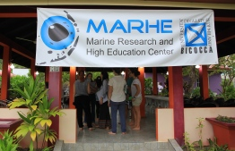 MaRHE research and higher education centre located on Magoodhoo, Faafu Atoll, in collaboration with Milano-Bicocca University. PHOTO: MILANO-BICOCCA UNIVERSITY