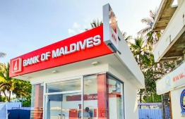 The newly established BML Self Service ATM in Guraidhoo, Kaafu Atoll. PHOTO: BML