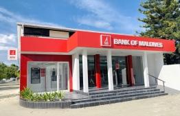 Self-service ATM in Muli, Meemu Atoll. PHOTO: BML