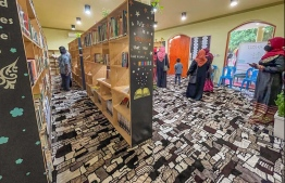 Newly opened Fuvahmulah Library.  BML donated over 400 books under their 'Aharange Bank' Community Fund. PHOTO: BML
