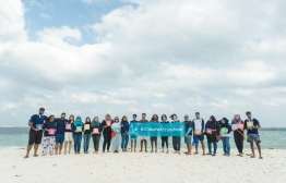 On a field visit with some of the UNDP Maldives team -- Photo: Not CREATIVE Media