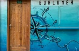 Creative street art in Maldives -- Photo: Akiko Fujii
