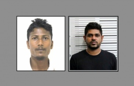 Misbaah Mohamed (l), reported missing by his family and Irufan Thagiyyu, arrested by Police in December for smuggling over 70 kilos of f drugs to Maldives -- Photo: Police