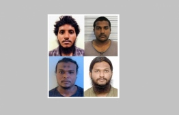 Adhuham Ahmed Rasheed, Mujaz Ahmed, Thahumeen Ahmed and Ahmed Fathih: their cases were sent over to prosecution today