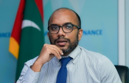 (FILE) Photo taken when Finance Minister Ameer gave an interview to Mihaaru news: the ministry estimates Maldives will earn Rf. 21 billion in 2021 -- Photo: Ahmed Awshan Ilyas/ Mihaaru