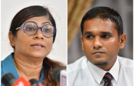 Minister Marriya and MP Labeeb: they are being investigated by the Police -- Photo: Mihaaru