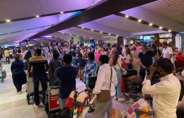 (FILE) Travellers in Velana International Airport: Maldives was moved from red list to amber list of UK's travel list on Friday -- Photo: Ahmed Awshan Ilyas/ Mihaaru