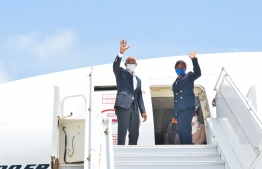 President Ibrahim Mohamed Solih departs to the United States to attend the 76th annual session of the UNGA -- Photo: President's Office