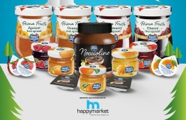 Photo showing some of the Menz & Gasser products Happy Market has introduced to Maldives --